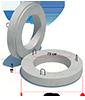 Плита покрытия колодца с пазом ППП-10.1 ГОСТ 8020-90