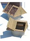 Домик колодезный с мягкой черепицей SHINGLAS
