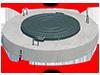 Плита покрытия колодца со встроенным  люком ППЛ-10.1 ГОСТ 8020-90