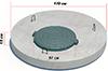 Плита покрытия колодца с пазом со встроенным люком ППЛП-15.2 ГОСТ 8020-90