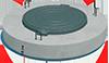 Плита покрытия колодца с пазом со встроенным  люком ППЛП-10.1 ГОСТ 8020-90
