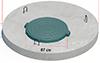 Плита покрытия колодца со встроенным люком ППЛ-15.2 ГОСТ 8020-90